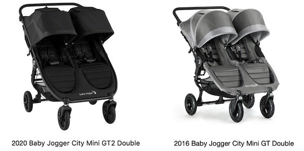 Baby Jogger City Mini GT2 2020 Double vs City Mini GT 2016 Double
