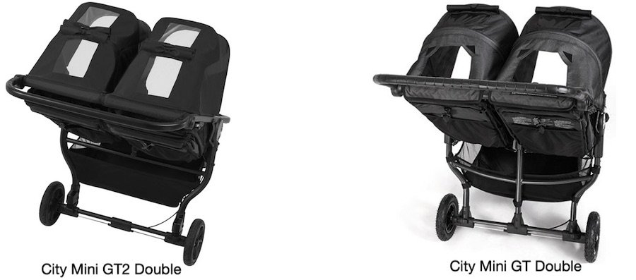 Baby Jogger City Mini GT2 Double 2020 has new magnetic closure for peek-a-boo windows, instead of Velcro which the older City Mini GT Double had