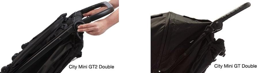Baby Jogger City Mini GT2 Double vs City Mini GT Double - Handlebar comparison