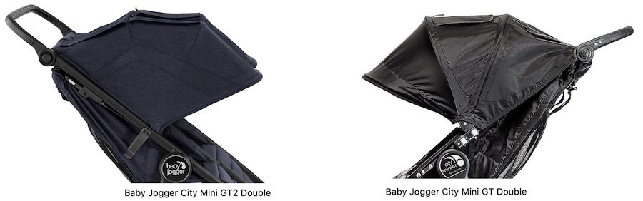 Baby Jogger City Mini GT2 Double vs GT Double - Canopy