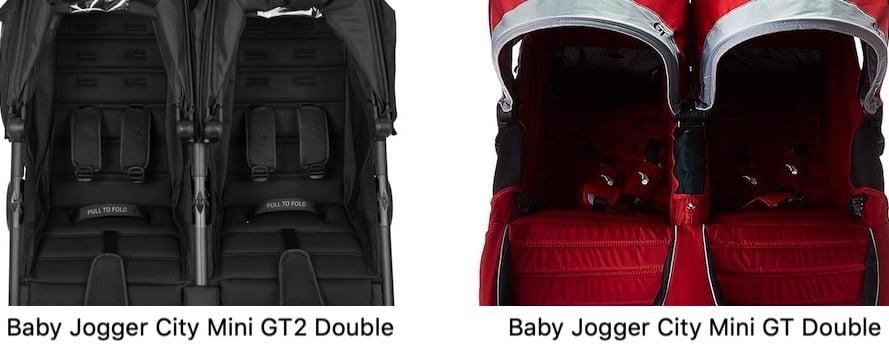 Baby Jogger City Mini GT2 Double vs GT Double - Seats
