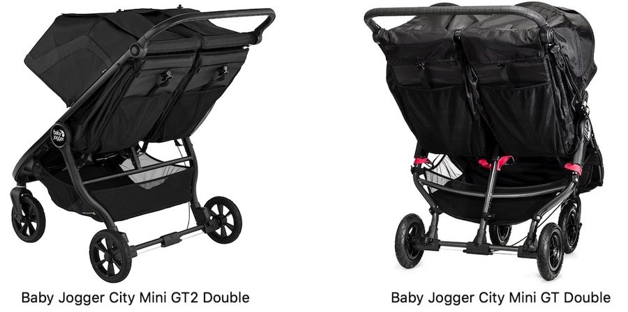 Baby Jogger City Mini GT2 vs GT Double - Comparison of storage baskets and pockets