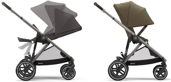 Cybex Gazelle - Toddler seat has near flat recline and oversized canopy