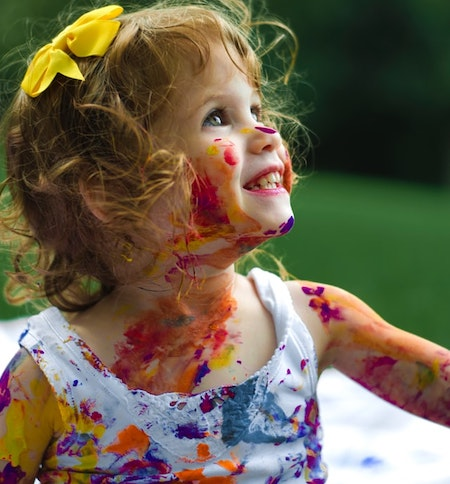 Finger painting for toddlers and kids