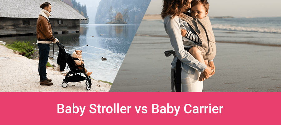 Comparison stroller vs baby carrier - what's better for travel and daily use