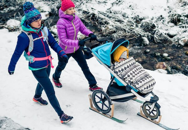 During winter stroller is usually better solution than a baby carrier