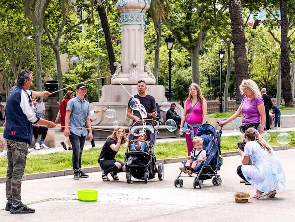 For long strolls on flat terrain, in not crowded places, stroller is more convenient than baby carrier