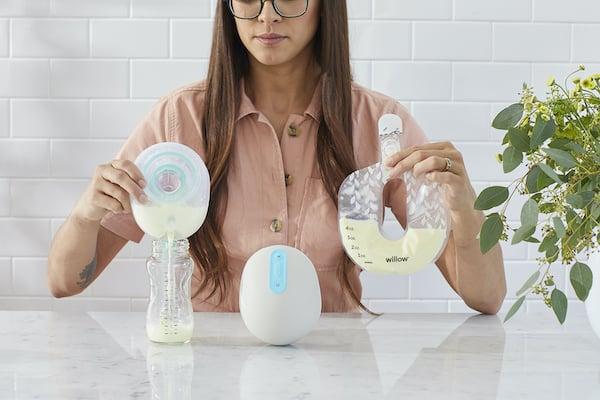 Willow Pump - Reusable Milk Container vs Disposable Milk Bag