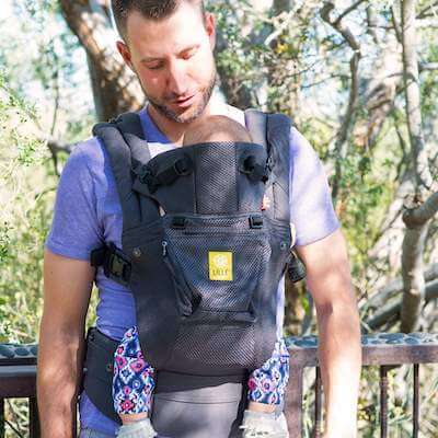 Lillebaby Complete Airflow - Baby Carrier for adults with larger body frame