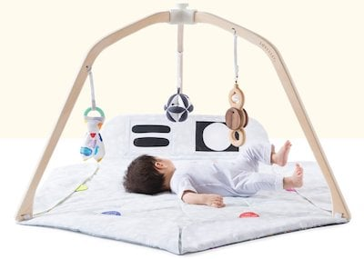 play gym by Lovevery doesn't overstimulate and overexcite the baby