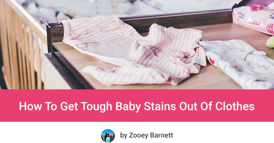 Remove baby poop stains