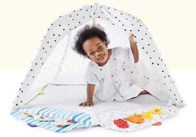 You can use this play gym to create a fort for your child to engage them in an imaginary play