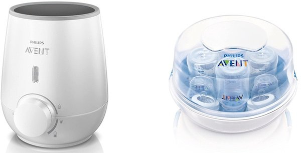 Bottle warmer and microwave bottle steam sterilizer from Philips Avent
