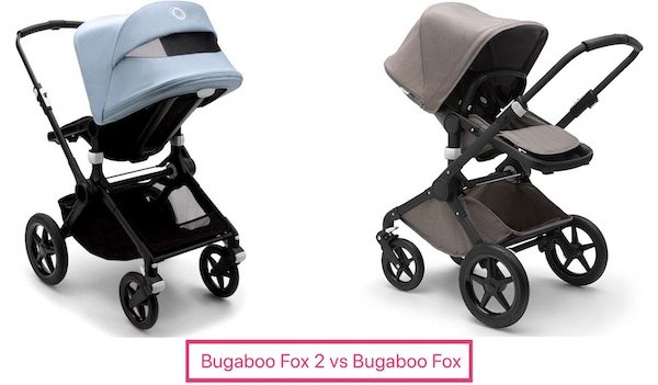 What's the difference between Bugaboo Fox and Fox 2?