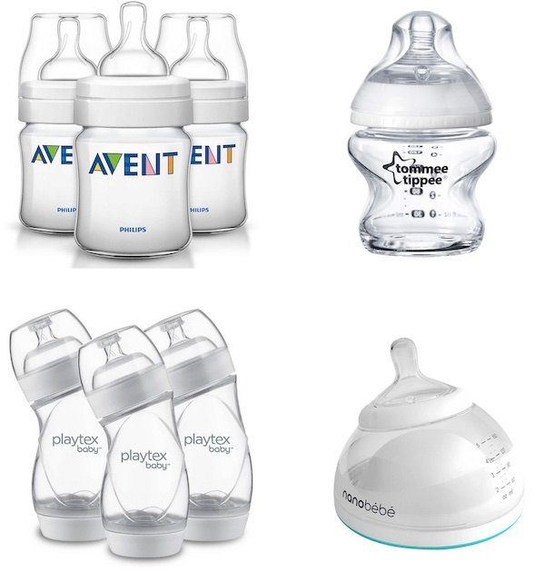 As you can see baby bottles come in various shapes (traditional bottles, angled baby bottle, curved baby bottles, breast-shape baby bottle)