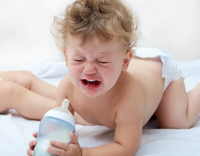 teething may cause the baby to refuse bottle or tend to suck the bottle even more