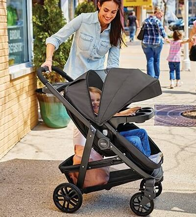 Graco Modes has capacity of 50 lbs and features large canopy with mesh panel