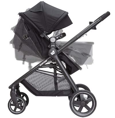 Zelia - reversible and fully convertible seat babie stroller