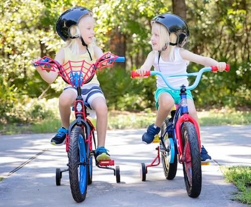 Training wheels - kids bike with stabilisers