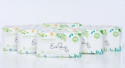 Eco Pea Co Newborn Diapers Month Supply