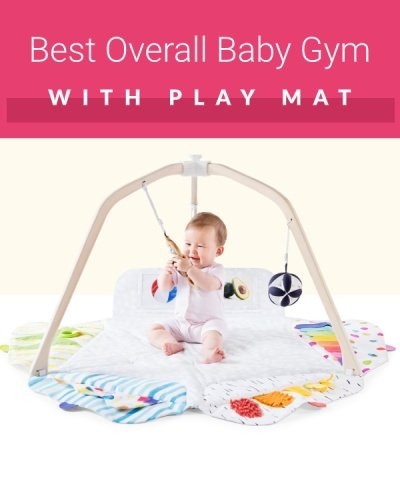 Lovevery play gym with play mat and Montessori toys