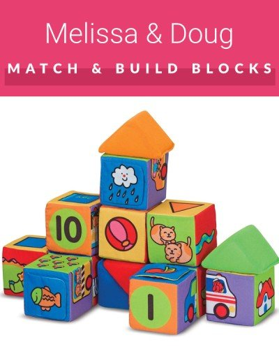 Soft blocks by Melissa and Doug - one of the best toys for crawling babies