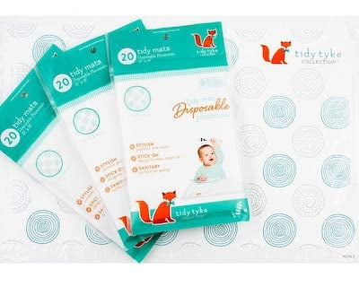 Tidy Tyke disposable placemats for baby