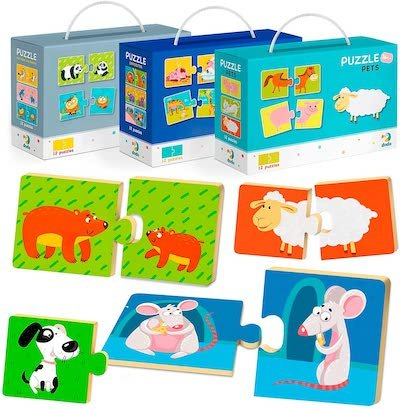 2-piece Jigsaw Puzzles Gift For Christmas For Toddler