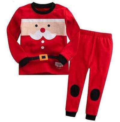 Vaenait Santa Suit Pajamas Baby Christmas Outfit