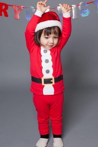 my first christmas outfit Santa Pajamas