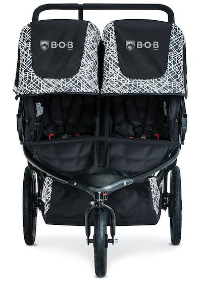 BOB Revolution Flex Duallie 3.0 has very roomy seats that can accommodate children up to 44 inches