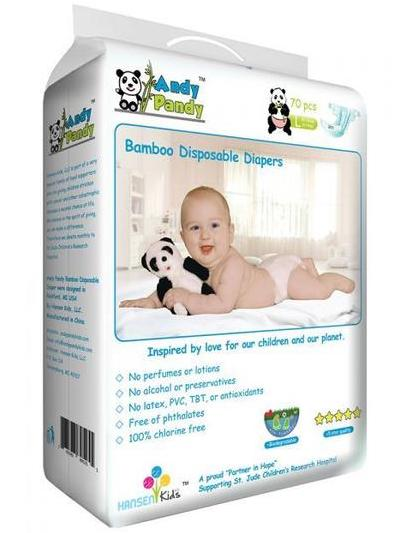 Andy Pandy Biodegradable Bamboo Diapers