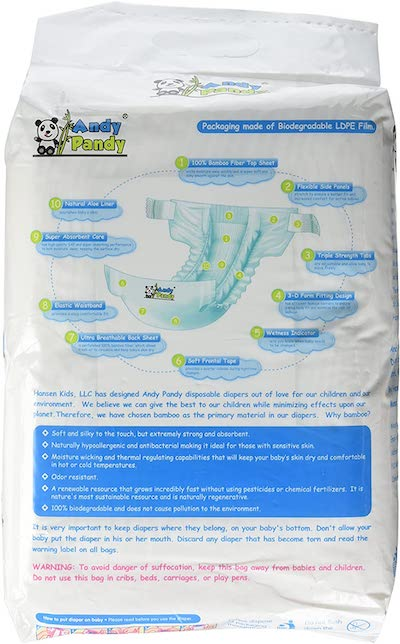 Andy Pandy Diapers Ingredients