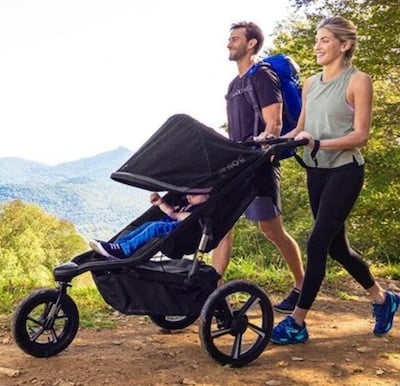 BOB Alterrain PRO is top stroller for running long distances, high speed and rough terrain
