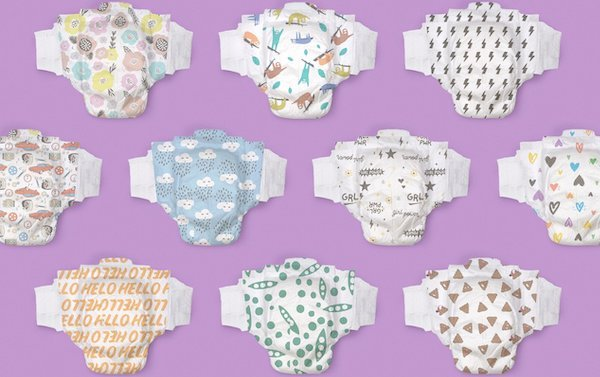 Hello Bello Chlorine Free Diapers - Colorful Prints
