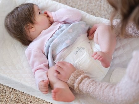 Eco Pea Co diapers don't contain nasty chemicals so they are less prone to cause allergic reaction